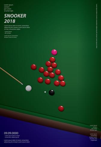 snooker kampioenschap poster ontwerpsjabloon vector illustratie