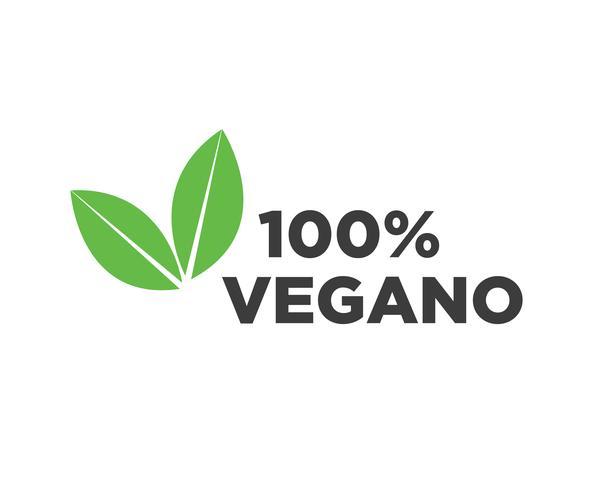 Ícone de vetor vegan.