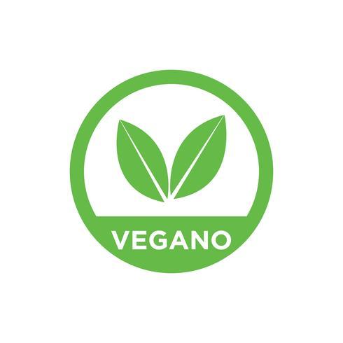Icona di vettore vegano.