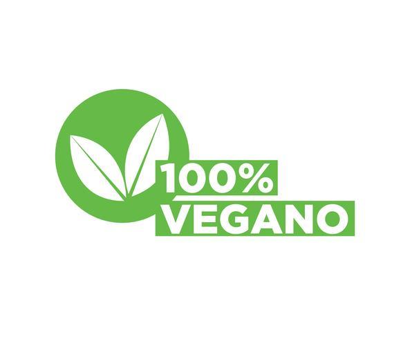 Icône de vecteur végétalien.