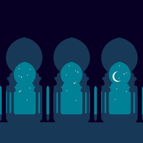 Traditionelle arabische Bögen Silhouette.
