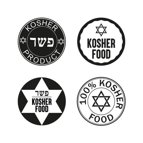 Set di icone cibo Kosher.