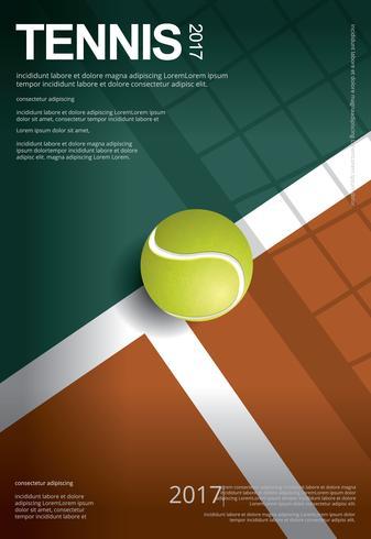 Tennis Championship Poster Vektor illustration