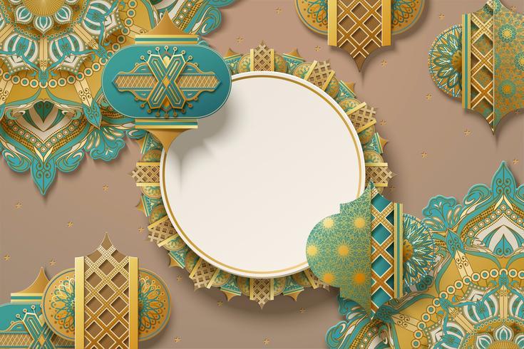 Fond de papier d'art Ramadan