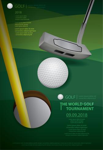Illustration vectorielle de Poster Golf Championship