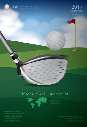 Illustration vectorielle de Poster Golf Championship vecteur