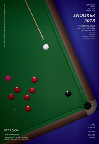 Snooker Championship Poster Design Mall Vektor Illustration