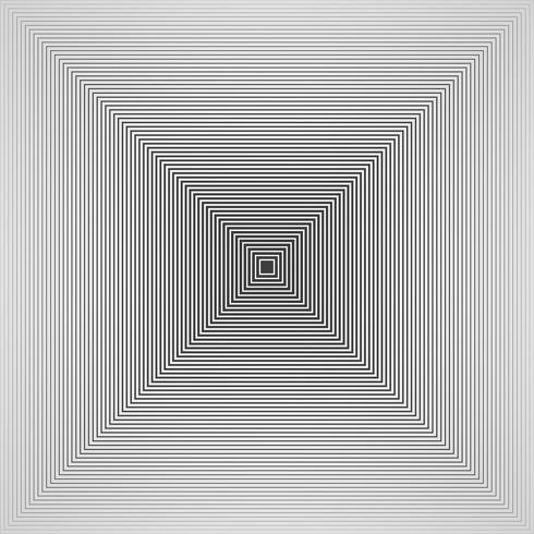 Zusammenfassung des futuristischen Schwarzweiss-Pyramidenquadrat-Musterhintergrundes des übersichtlichen Designs.