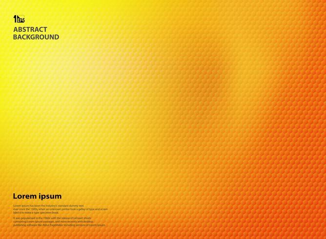Abstrakt gradient gul och orange färger med femkantig mönsterstruktur. vektor