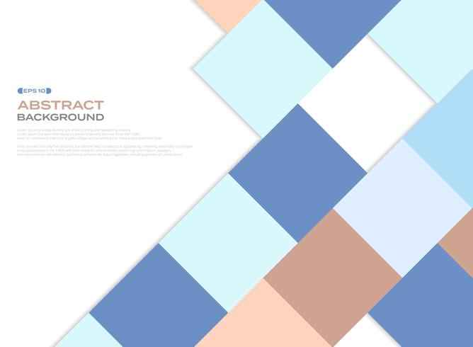 Colorful business color tone square pattern cover on white background.