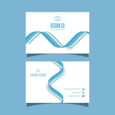 Business card with flowing lines design