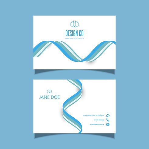 Visitenkarte mit Ausflussrohren Design