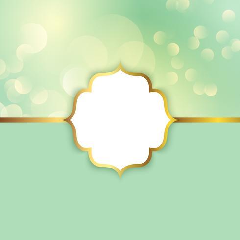 Eleganter Rahmen auf einem bokeh beleuchtet Hintergrund