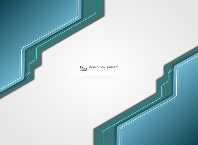 Schablonenvektor-Designhintergrund der abstrakten modernen Technologie blauer. Abbildung Vektor eps10