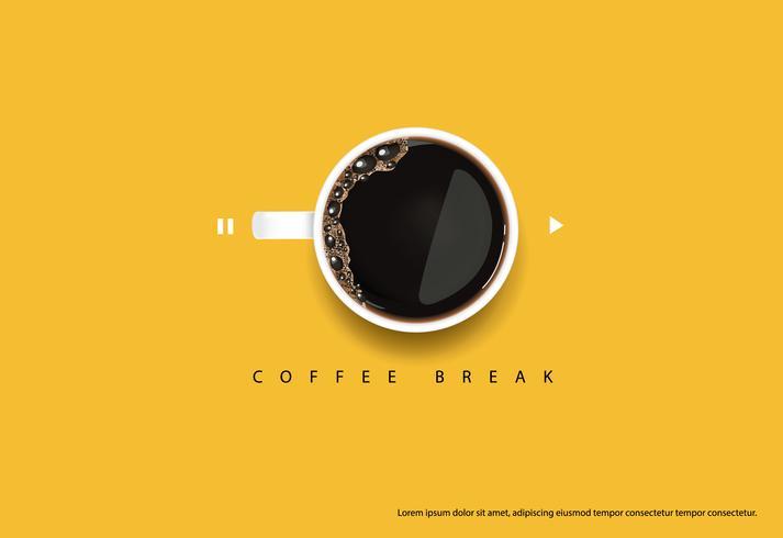 Kaffee-Plakat-Anzeige Flayers-Vektor-Illustration
