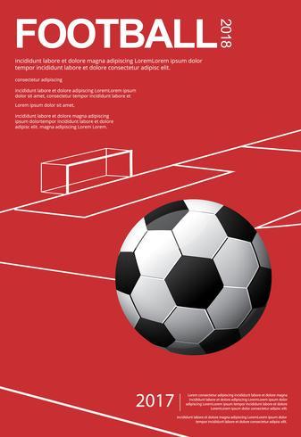 Ilustración de fútbol fútbol cartel Vestor