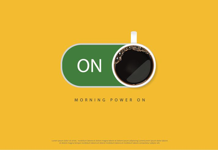 Kaffeaffisch Annons Flayers Vektorillustration