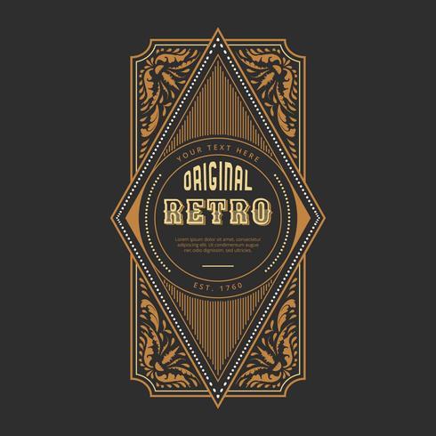Retro Label Vektor-Auflistung