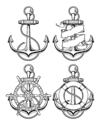 Ancre nautique illustration vectorielle