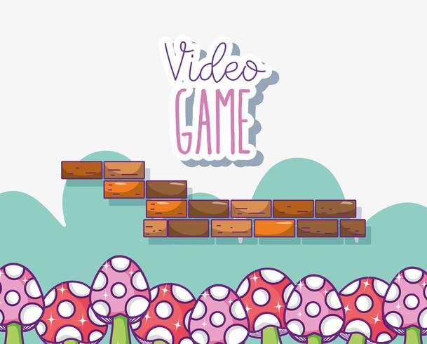 Retro Videospiellandschaft