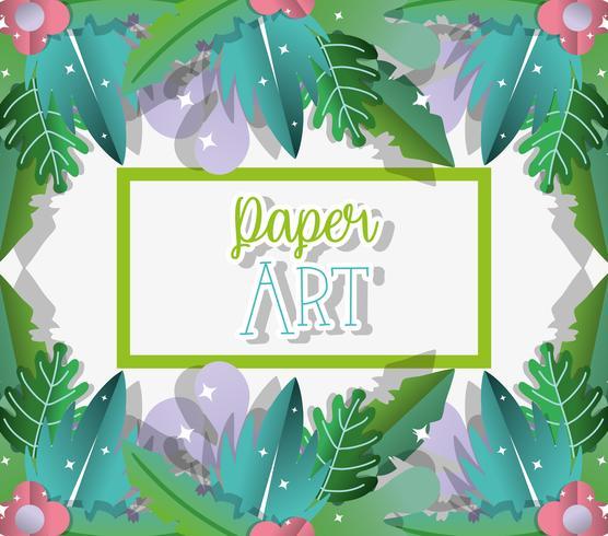 Papierkunst-Cartoons
