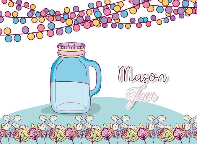 Mason jar party drawing