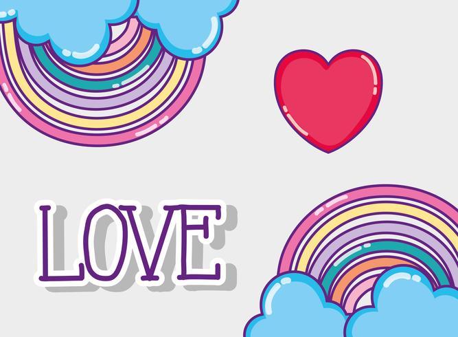 Kärlek och hjärtan teckningar