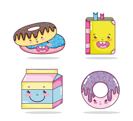 Set von Kawaii-Cartoons