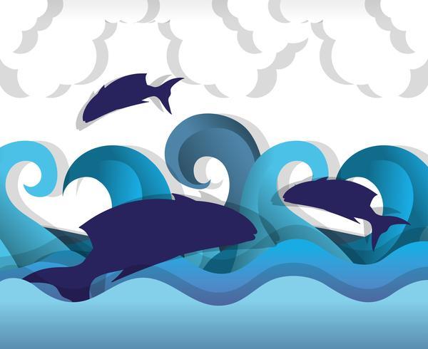 Papierkunst unter Wasser