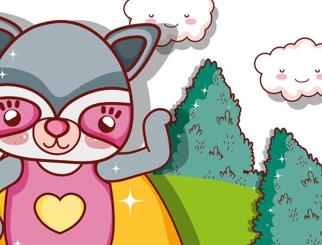 Cartone animato animale supereroe