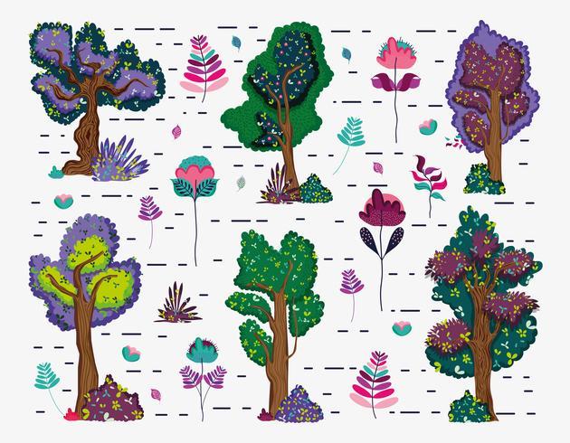 Set av träd