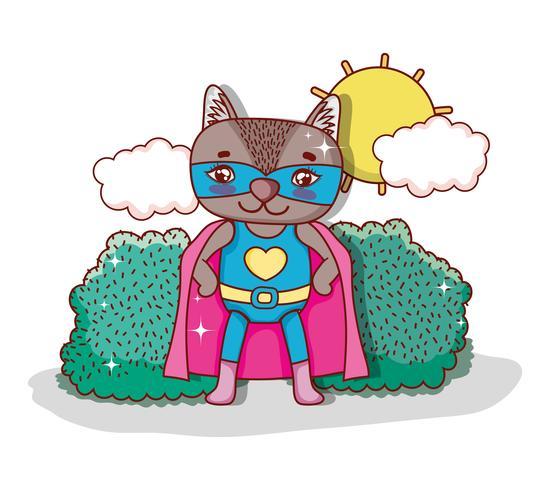 Superhero djur tecknad