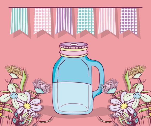 Desenho de festa do frasco de pedreiro