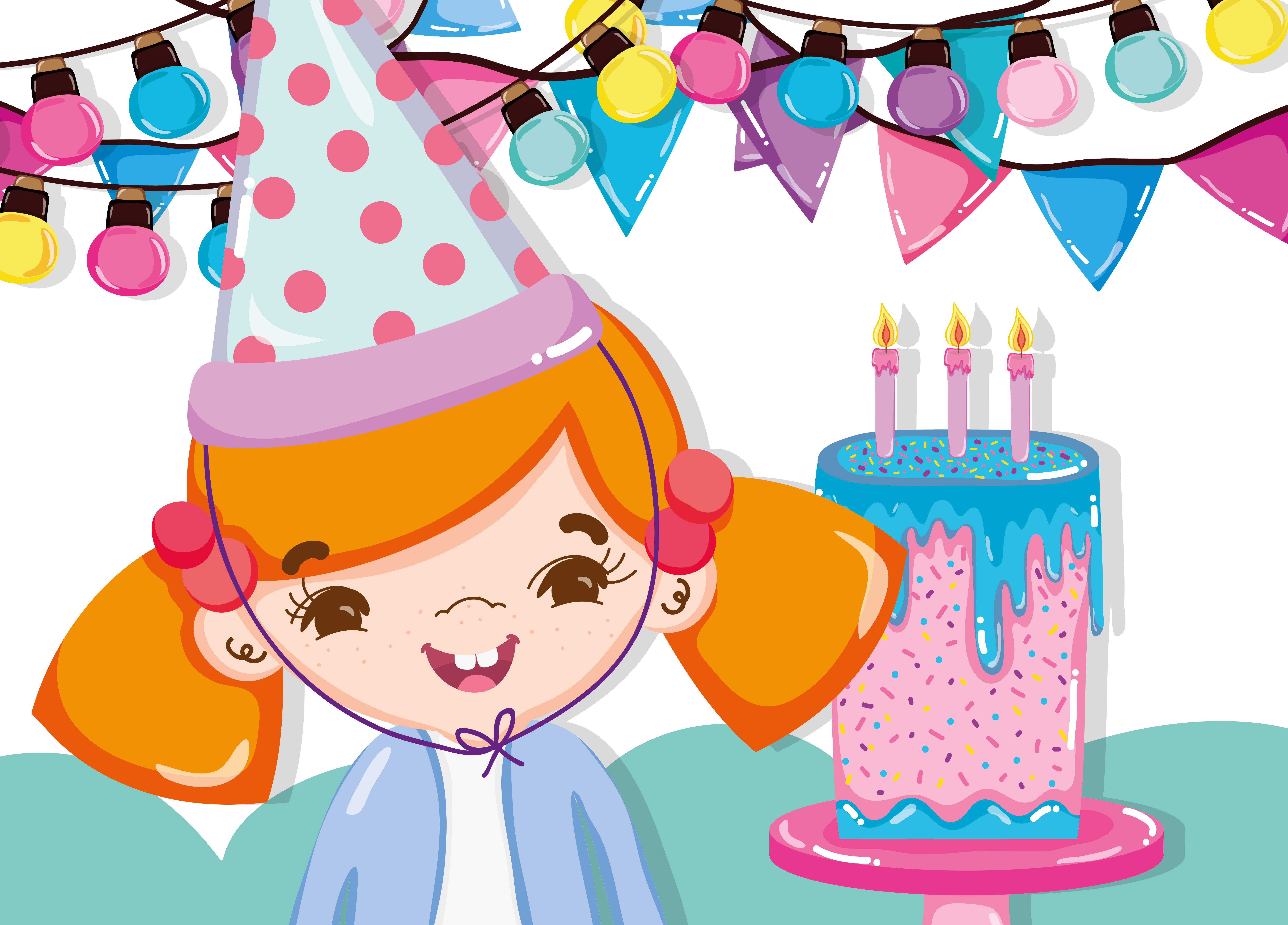 Girl Birthday Party Cartoons Download Free Vectors Clipart Graphics Vector Art