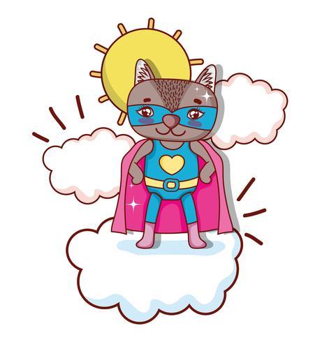 Superheld Tier Cartoon