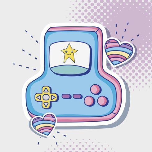 Fumetto di console retrò videogame