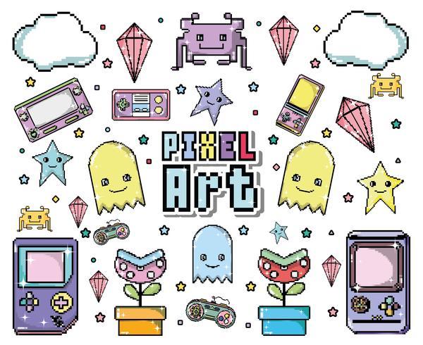 Dessin animé pixel art