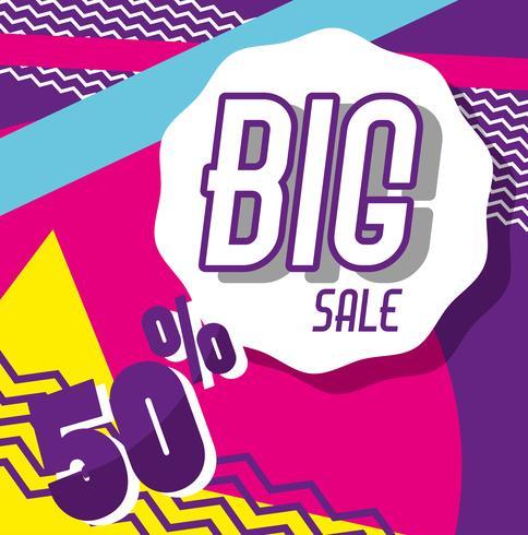 Big sale memphis style poster