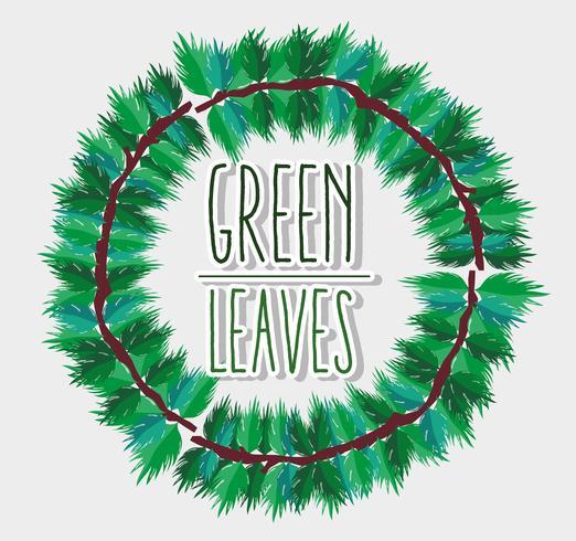 Groene bladeren frame