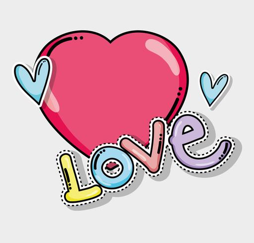 Amor linda tarjeta vector