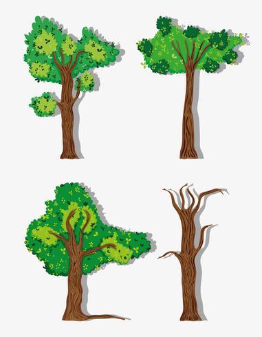 Reihe von Bäumen