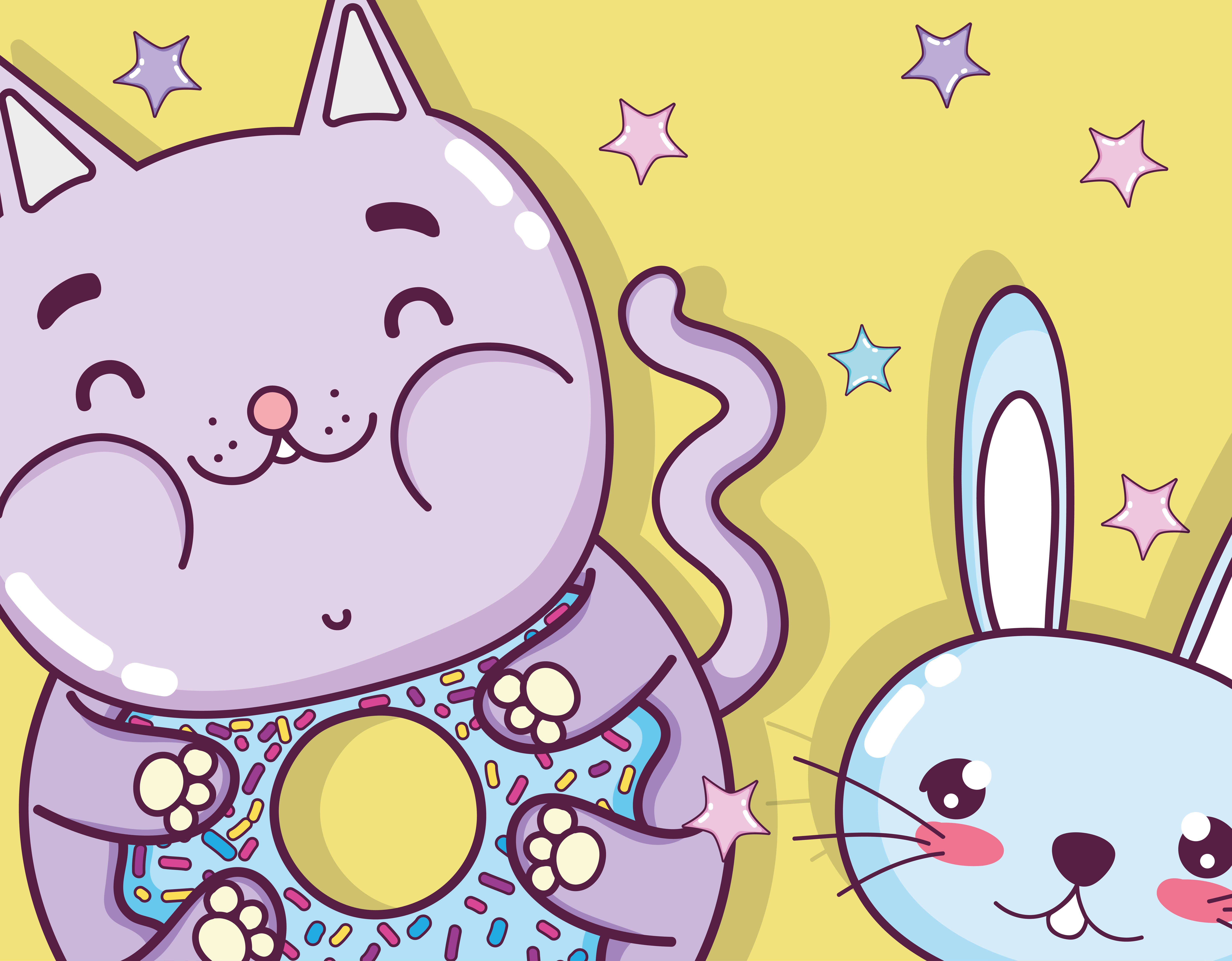 Cute Cat Cartoon Download Free Vectors Clipart Graphics