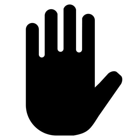 Stop Answer Hand Sign Icon