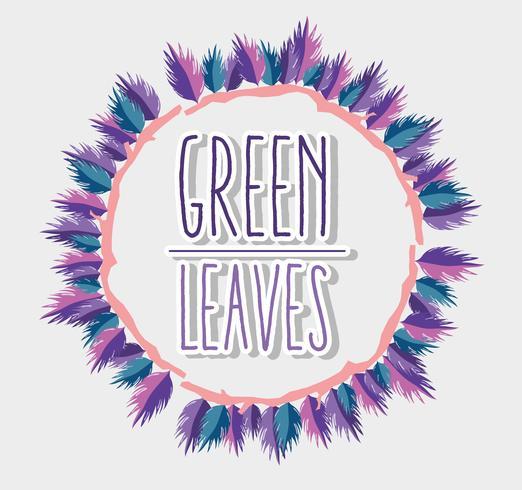 Marco de hojas verdes vector