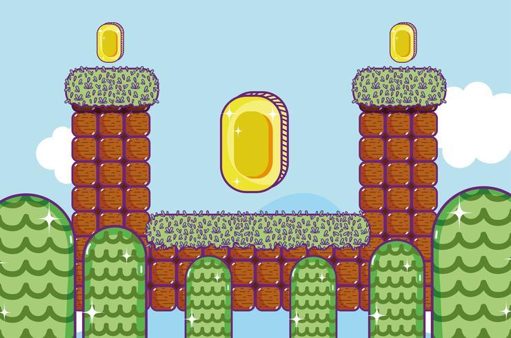 Retro videogamelandschap