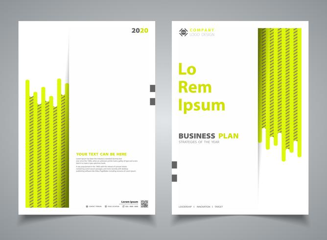 Abstract brochure green color new stripe line design template decoration. illustration vector eps10