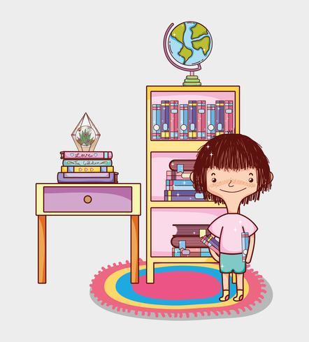 Fille Avec Des Livres De Dessins Animes Telecharger