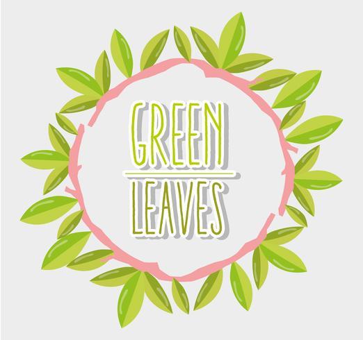 Groene bladeren frame vector