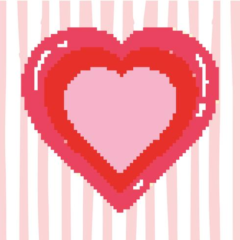 Videgame del corazón pixelado