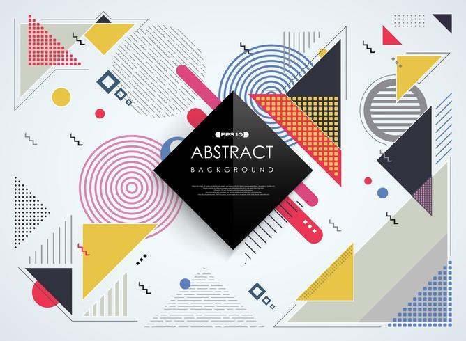 Abstracte kleurrijke geometrische het patroonachtergrond van Memphis.